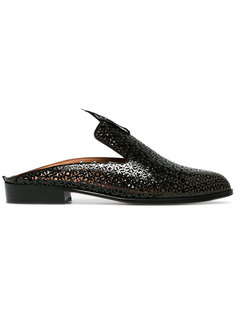 Patent Leather Asier Backless Loafers Robert Clergerie