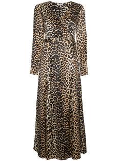 леопардовое платье Dufort с запахом Ganni