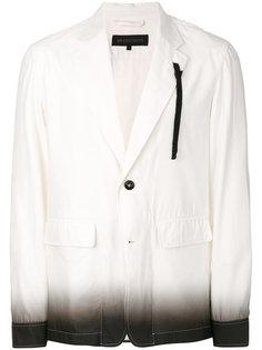 пиджак-рубашка с эффектом градиента  Ann Demeulemeester Grise