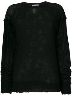 свитер с потертой отделкой Helmut Lang