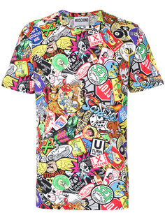 футболка с комбинированным принтом Moschino