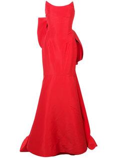 расклешенное платье с бантом  Oscar de la Renta