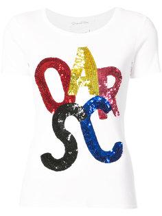 футболка с пайетками  Oscar de la Renta