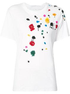 футболка с вышивкой  Oscar de la Renta