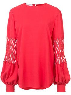 блузка с вырезами Oscar de la Renta