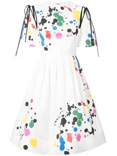 платье с абстрактным принтом  Oscar de la Renta