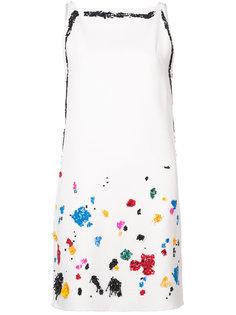 платье шифт с пайетками  Oscar de la Renta