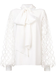 блузка с бантом  Oscar de la Renta