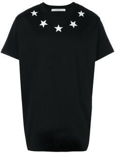 футболка с нашивками-звездами Columbian Givenchy