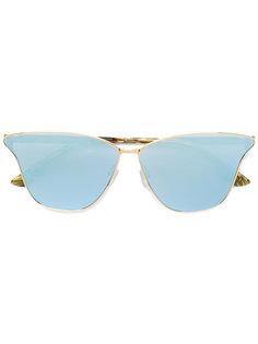 """зеркальные солнцезащитные очки с оправой """"кошачий глаз"""" McQ Alexander McQueen"""