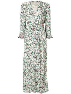платье с запахом и цветочным принтом  Vilshenko