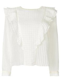 блузка с оборкой  Vilshenko