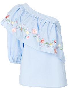 асимметричная блузка с вышивкой  Vilshenko