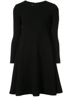 расклешенное платье с длинными рукавами  Oscar de la Renta
