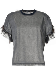 футболка с отделкой из тюля Kolor