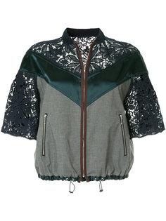 куртка на молнии с кружевными панелями Kolor