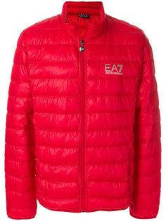 пуховая куртка с логотипом Ea7 Emporio Armani