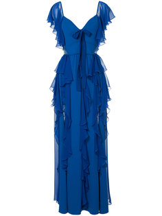 вечернее платье с оборками Elie Saab
