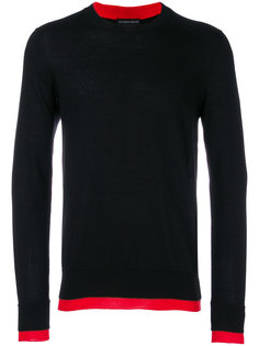 contrasting hem detail sweater Alexander McQueen