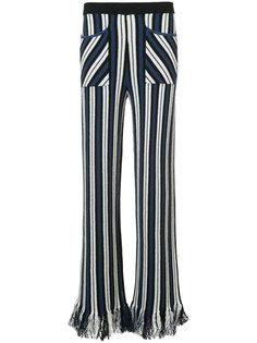 полосатые брюки с бахромой по низу Rosie Assoulin