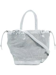 сумка-мешок с цепочной отделкой Paco Rabanne