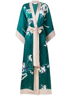 длинное кимоно с цветочным принтом Carine Gilson