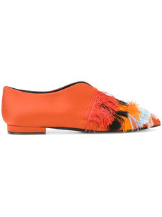 fringed pointed ballerinas Coliac