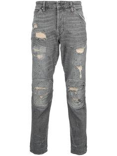 джинсы с панельным дизайном и рваным эффектом G-Star