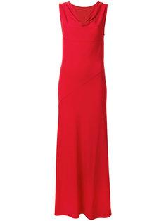 платье макси с воротником хомут  Mm6 Maison Margiela
