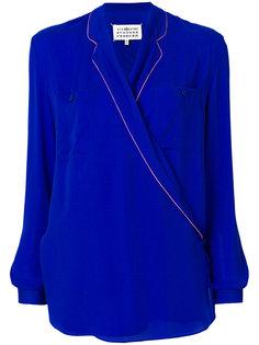 блузка с запахом и кантом  Maison Margiela