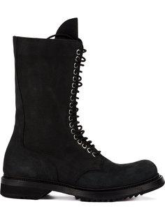 ботинки на шнуровке в стиле милитари Rick Owens