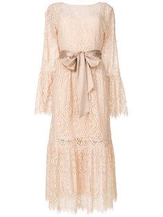 кружевное платье с поясом  Perseverance London