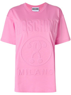 футболка с тиснением логотипа Moschino