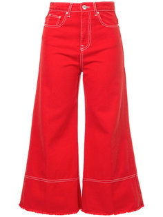 укороченные джинсы клеш  MSGM