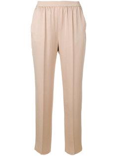 укороченные брюки с эластичным поясом Agnona