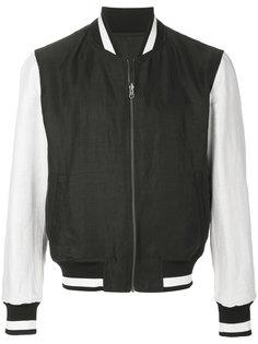 куртка-бомбер с контрастными рукавами  Ann Demeulemeester Grise