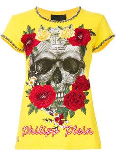 футболка с принтом и вышивкой Philipp Plein