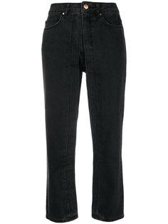 stitch detail cropped jeans Aalto