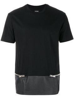 декорированная футболка с молниями Les Hommes