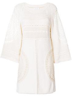 ажурное платье шифт  Chloé