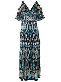платье макси с вырезными деталями на плечах Temperley London