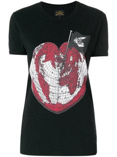 футболка с принтом сердца Vivienne Westwood Anglomania