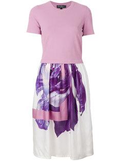 платье-футболка с цветочным принтом Salvatore Ferragamo