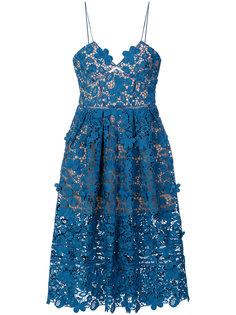 кружевное платье с цветочным узором  Self-Portrait