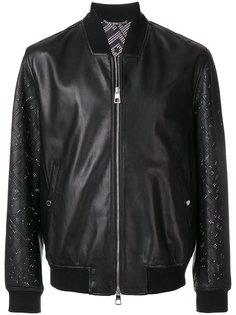 куртка-бомбер с перфорацией Versace Collection