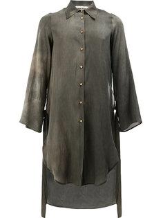 длинная рубашка с завязками на манжетах  Uma Wang