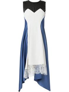 приталенное платье со вставкой  Koche
