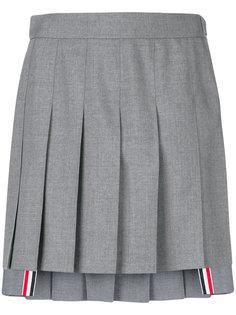 плиссированная асимметричная мини-юбка  Thom Browne