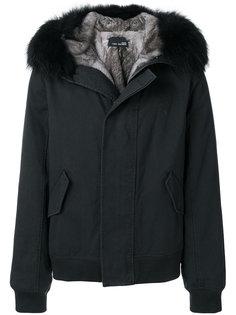 куртка с капюшоном и меховой оторочкой  Yves Salomon