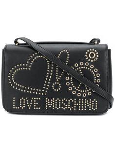 сумка через плечо с заклепками и логотипом Love Moschino